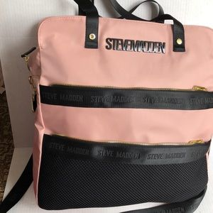 Steve Madden Blush Pink and black Tote